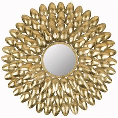 Safavieh Royal Leaf Sunburst Mirror, I bet I can DIY this with spray paint and plastic spoons. White Wall Mirrors, Rustic Wall Mirrors, Round Wall Mirror, Diy Mirror, Mirror Art, Spoon Mirror, Mirror Collage, Mirror Bedroom, Mirror Ideas