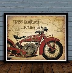 LOVE MY INDIAN MOTORCYCLE! by Donna Jackson on Etsy
