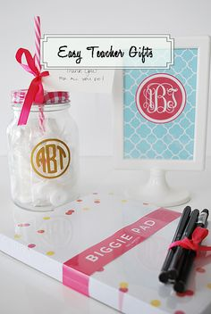 Easy and inexpensive teacher appreciation gifts