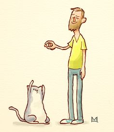 Artist Draws Himself And His Cat In The Style Of 100 Different Illustrators - DesignTAXI.com
