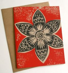 gorgeous block print - my fav colours