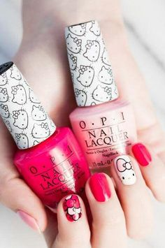 Yes!  Hello Kitty by OPI is here and it's just as adorable as you'd imagine. Click for the details, including prices and where to buy. Plus, we've got a nail art how-to!