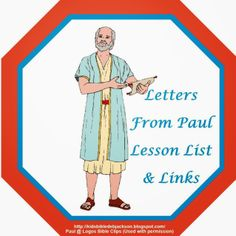 Bible Fun For Kids: Letters From Paul List of Lessons & Links