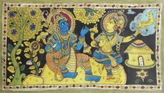 Sita Requests Rama to Fetch the Illusory Golden Deer (Kalamkari Paintings on Cotton - Unframed))