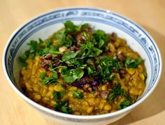 Chana Dal Tadka - yellow lentils with onions, garlic, and spices | New York Food Journal
