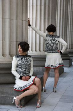 Lisa Anne Aurbach Athiest Sweater & Skirt
