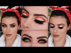 Pin Up Fall Makeup Tutorial – Mein Favorit Pinup Girl Makeup, Pin Up Makeup, Girls Makeup, Makeup Stuff, Mac Diva, Fall Makeup Tutorial, Makeup Tutorial Foundation, Pin Up Looks, Make Up Tutorials