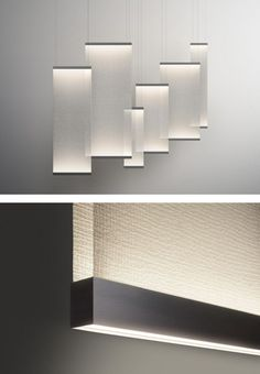 LED fabric pendant lamp CURTAIN by Vibia | #design Arik Levy @VIBIA