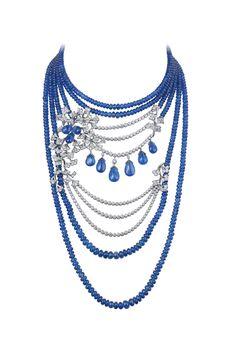 CARTIER Sapphire Platinum and Diamonds, Necklace