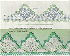 PATRONES - CROCHET - GANCHILLO - GRAFICOS: PUNTILLAS PARA TEJER A GANCHILLO