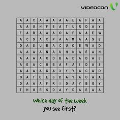 We all love to solve crossword puzzles. Tell us what is the first day of the week you see in the crossword!