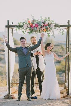 Floral chuppah | Photo by Fondly Forever Photography | Read more - http://www.100layercake.com/blog/?p=70401