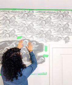 Reusable Wall Stencils for DIY Beach House Decor Mermaid Nautical Stencil
