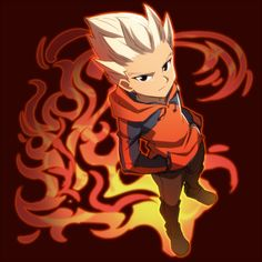Inazuma Eleven GO Gouenji Shuuya art Tornados, Fanarts Anime, Manga Anime, Inazuma Eleven Axel, Last Exile, Fire Tornado, Pixel Animation, Gothic Anime, Image Fun