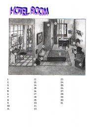 English Worksheets: Hotel room
