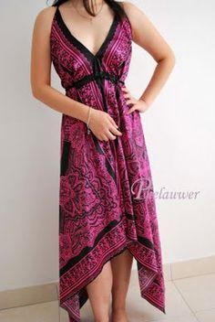 paisley scarf (?) dress