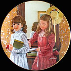 """School Days"" ~ Sandra Kuck  September: Childhood Almanac Plate Collection"