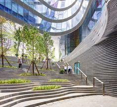 Raffles City Hangzhou Edificio todo en uno .Vivienda, trabajo y ocio