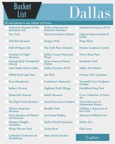 Bucket List Dallas Texas Bucket List in Your Choice by ImageNugget