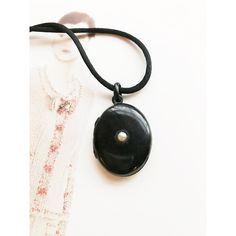Antique Victorian black enamel and pearl oval locket pendant necklace... (410 NZD) ❤ liked on Polyvore featuring jewelry, pendants, antique lockets, antique victorian jewelry, antique victorian locket, antique pendant necklace and locket pendant necklace