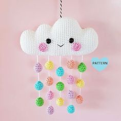 Cloud Mobile PDF Pattern, crochet, amigurumi * Please note that this is a crochet pattern PDF and NOT a finished item * ………………………………………………………………………………………………………… This is a pattern for a super cute and happy Cloud. Crochet Amigurumi, Amigurumi Doll, Crochet Dolls, Crochet Baby Mobiles, Crochet Mobile, Cloud Mobile, Crochet Gifts, Cute Crochet, Crochet Summer