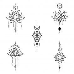 Feather Tattoo Design, Owl Tattoo Design, Feather Tattoos, Flower Tattoo Designs, Geometric Tattoo Stencil, Tattoo Stencils, Finger Tattoos, Body Art Tattoos, Easy Tattoos