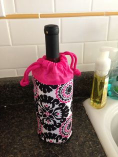 Bottle of wine fit great in the Thirty-One Bring a Bottle Thermal!