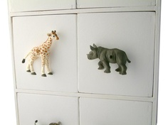 Childrens Room Safari Grey Rhino Drawer Knob - Candy Queen Designs - Designer light switches, dimmer switches and cupboard knobs for childrens rooms boys and girls kids bedrooms