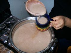 Champurrado is a rich Mexican drink thickened with masa flavored with cinnamon, vanilla, and chocolate. It is most enjoyed in winter with. Champurrado is a rich Mexican drink thickened with Mexican Drinks, Mexican Dishes, Mexican Corn, Mexican Cooking, Mexican Food Recipes, Italian Cooking, Vegetarian Recipes, Yummy Drinks, Gourmet