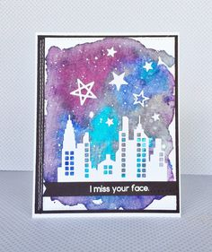 I Miss Your Face card by Jill Hawkins for Paper Smooches - Super Star Dies, Super 2 Dies, Fun & Flirty