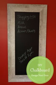 Make your own chalkboard/message center to fit your decor and space. Bicycle Seats, Moldings And Trim, Cool Bicycles, Weathered Wood, Planks, Rustic Style, Keep It Cleaner, Chalkboard, Diys