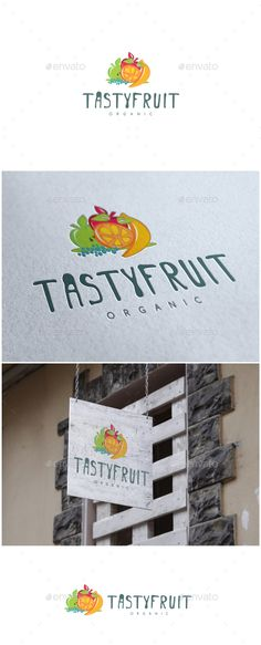 Buy Tasty Fruit Logo by MS_designer on GraphicRiver. Tasty Fruit Logo -AI and EPS file -CMYK mode vector and resizable -Easy to edit color and text -Free font used(. Food Logo Design, Best Logo Design, Logo Design Template, Logo Templates, Templates Free, Graphic Design, Resturant Logo, Logo Restaurant, Travel Logo