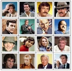 Can you name the 1970s TV detectives from their pictures?