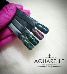 Futuristic Nail Art  Products used Indigo Nails Cat Eye gels🔝