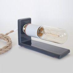 My design inspiration: L-Lamp Charcoal Beige on Fab. Folding Desk, Desk Lamp, Wall Sconces, Wine Rack, Light Up, My Design, Charcoal, Objects, Porcelain