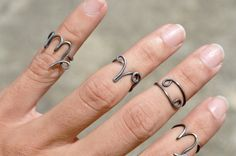 Handmade, Personalized Jewelry, Clothing, Gift Boxes by theELEPHANTpink Zodiac Rings, Zodiac Jewelry, Diy Rings, Jewelry Rings, Jewellery, Wire Jewelry, Ring Ring, Knuckle Rings, Wire Wrapped Rings