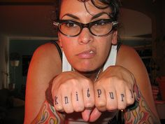 best knuckle tattoos ever. Crafter for life.
