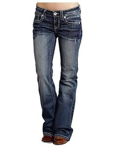 Stetson Womens 816 Fit White S Stitch Bootcut Jeans Denim 4 L ** Details can be found by clicking on the image. (This is an affiliate link and I receive a commission for the sales) Cut Jeans, Jeans Fit, Jeans Style, Denim Jeans, Shoes With Jeans, Jeans And Boots, Casual Jeans, Men Casual, Funky Fashion