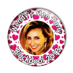 Items similar to Personalised Hearts Hen Night Party Badges on Etsy Hens Night, Badges, Trending Outfits, Party, Etsy, Badge, Parties