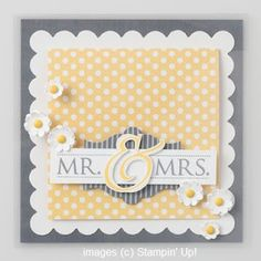 Julie's Stamping Spot -- Stampin' Up! Project Ideas Posted Daily: Mr & Mrs Card from Stampin' Up! Catalog
