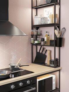 Home Decor Kitchen, Home Kitchens, Diy Home Decor, Ikea Kitchen Interior, Küchen Design, House Design, Ikea Kitchen Storage, Ikea Small Kitchen, Ikea Home