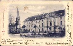 Ak Greifswald in Mecklenburg Vorpommern, Straßenpartie mit Blick auf Universität   eBay