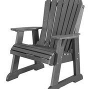 Rosecliff Heights Patricia Plastic Adirondack Chair With Table In
