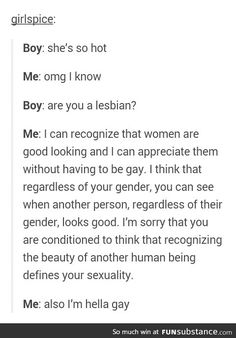 Does part gay still count as hella gay?