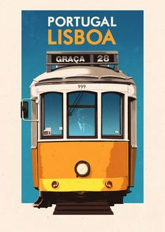 Folio - Illustration Agency | Rui Ricardo - Editorial • Advertising • Graphic • Travel illustrator | Vintage Travel Poster - Lisboa - Portugal - Lisbon