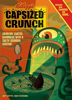 Capsized Crunch with a salty seaman centre
