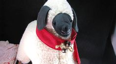 Vintage Plush Wool Winter Lamb Warm And Cozy Red Scarf