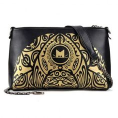 $11.59 Ethnic Style Women's Crossbody Bag With Metal Chain and Color Matching Design