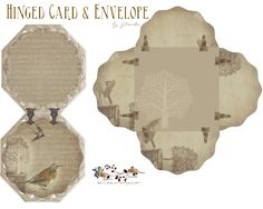 Hinged Card and Envelope Free-download