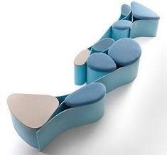 Neverending Seating by Luca Nichetto, futuristic furniture